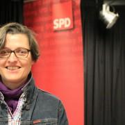 Birgit Monteiro auf der KDV, bei der sie für das Amt der Bezirksbürgermeisterin nominiert wurde