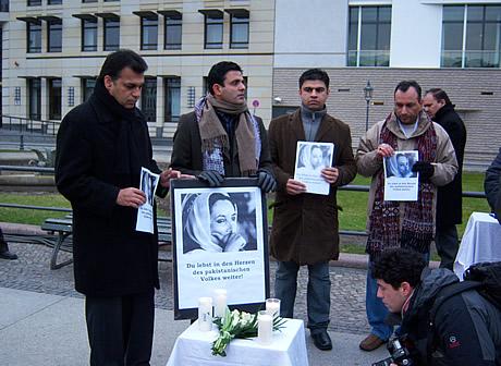 Foto: Trauerkundgebung von der ermordeten pakistanischen Oppositionsführerin Benazir Bhutto