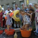 baden vor dem Hubertusbad