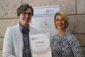 Zusammen mit Brigitte Mohn, Vorstand der Bertelsmannstiftung