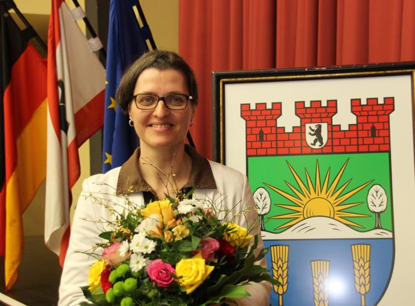 Birgit Monteiro nach ihrer Wahl zur Bürgermeisterin. Bildrechte: Bezirksamt Lichtenberg