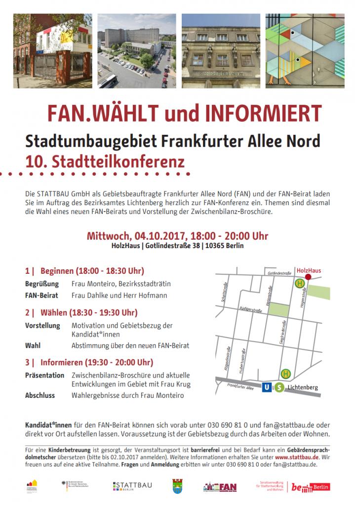 Plakat FAN-Konferenz